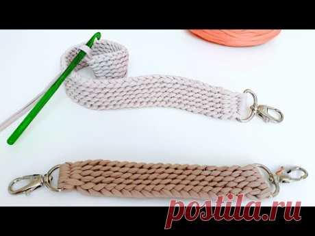 Alça de Crochê Para Bolsa - Cinto de Crochê - DIY - Tutorial Passo a Passo