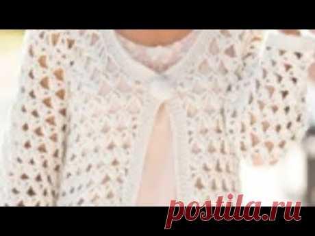 Узор крючком для жакета - Crochet pattern for cardigan