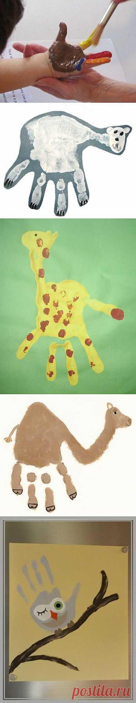 (+1) - Handprint: веселые отпечатки ладошек и ножек. | СВОИМИ РУКАМИ