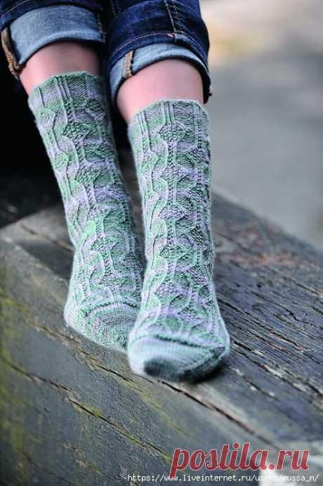 Носки Thistle (Чертополох) от Rosee Woodland.