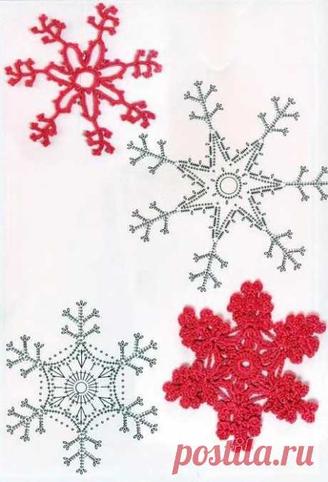 "Вязаные снежинки. Схемы | ""Фабрика хобби"""