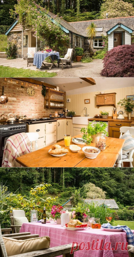 """Cottage in \""""rural chic\"""" style in Cornwall. England"""