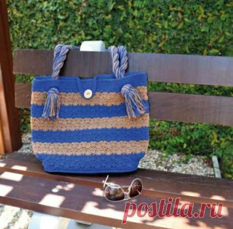Вяжем летнюю сумочку