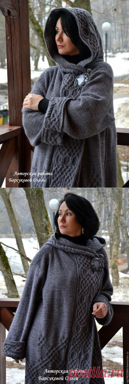 """Авторское вязаное пальто с капюшоном """"Туманы Авалона"""" - Поиск в Google"""
