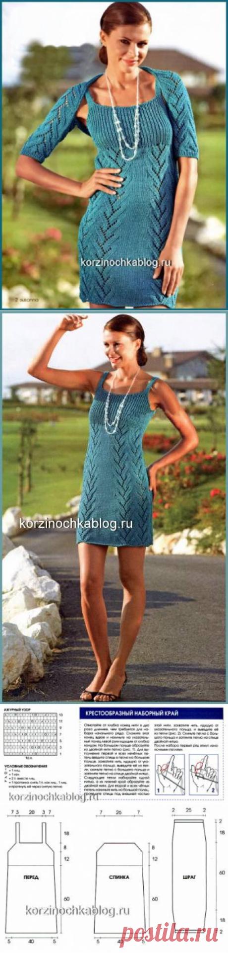 Вязаное платье и вязаный шраг - 3 Июля 2016 - Вязание спицами, модели и схемы для вязания на спицах