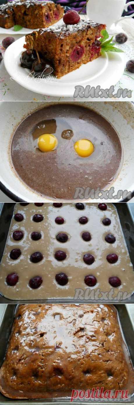 Шоколадный пирог с вишней (рецепт с фото) | RUtxt.ru