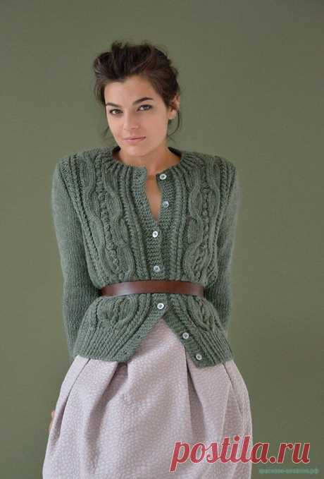 Стильный кардиган спицами — Красивое вязание
