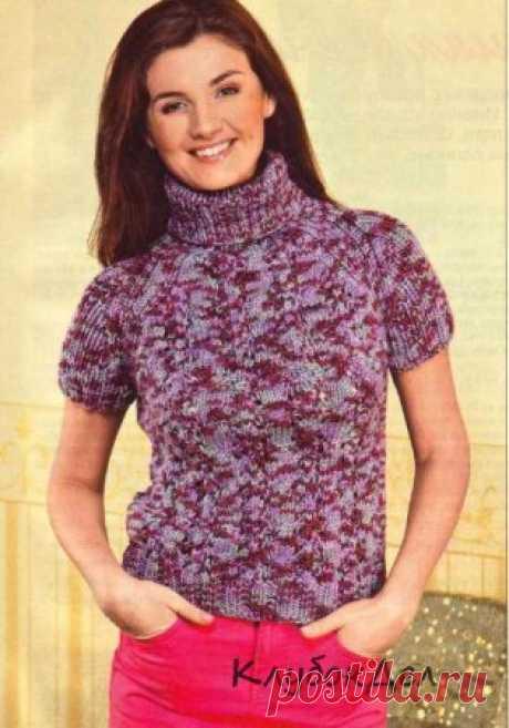 Тёплый пуловер с «изюминкой»