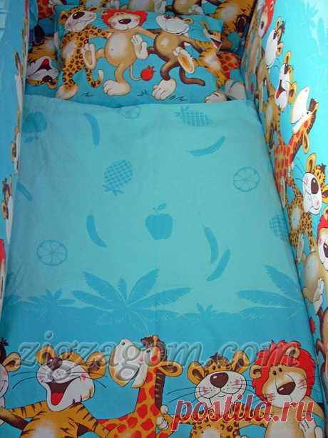 Пошив постельного белья в детскую кроватку своими руками | Зигзагом.com