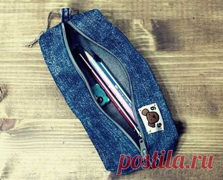 DIY Denim Pencil Case ~ DIY Tutorial Ideas!