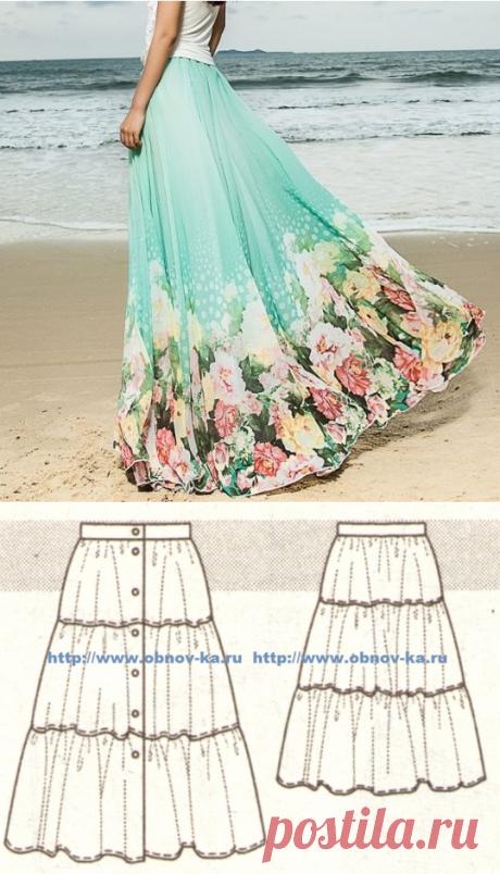 Шьем сами: красивые летние и пляжные юбки