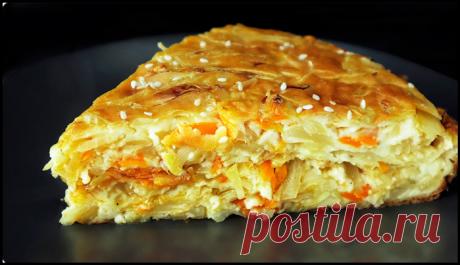 Очень вкусный капустный пирог - минимум теста максимум начинки!