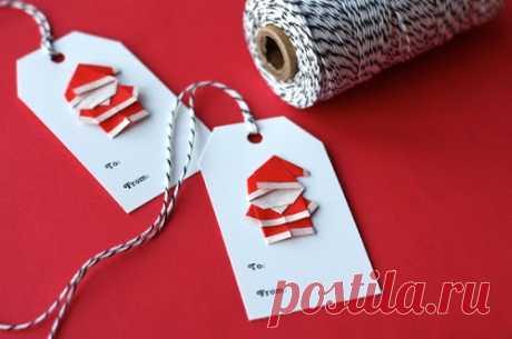 Оригами -Санта Клаусята (Diy) / Бумага и карандаши (скрапбукинг, оригами, и т.д.) / ВТОРАЯ УЛИЦА