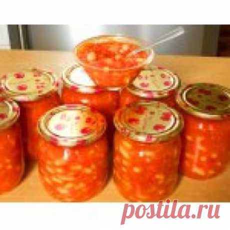 Фасоль под красным соусом Кулинарный рецепт