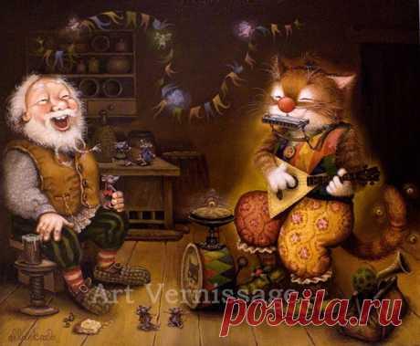 Сказочные коты и кошки. Художники А. Маскаев и С. Каширин.