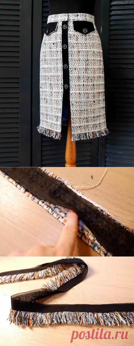 Тесьма с бахромой: декор в стиле Шанель своими руками — Мастер-классы на BurdaStyle.ru