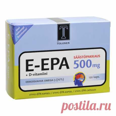 Э-ЭПК 500 мг + Витамин д 120 шт изделия недорого Tokmannilta