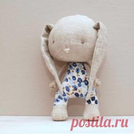 Items similar to Handmade bunny, soft stuffed toy on Etsy