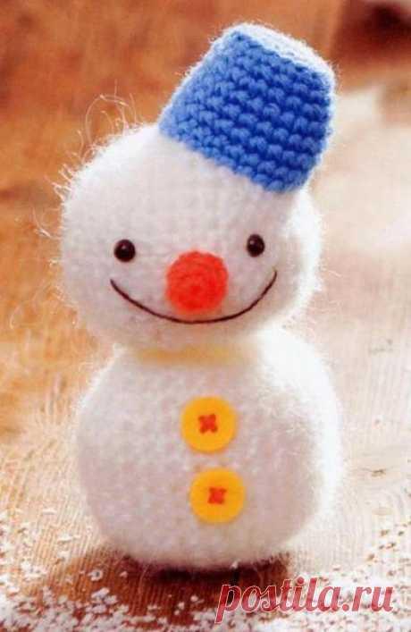 Снеговик крючком со схемами. новогодние игрушки своими руками | Домоводство для всей семьи