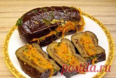 Маринованные баклажаны с морковкой - Рецепты кулинарии