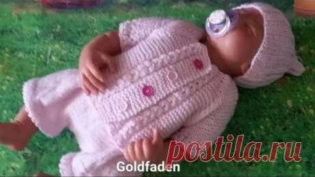 Goldfaden Мастер класс Кофточка для новорожденного вязание