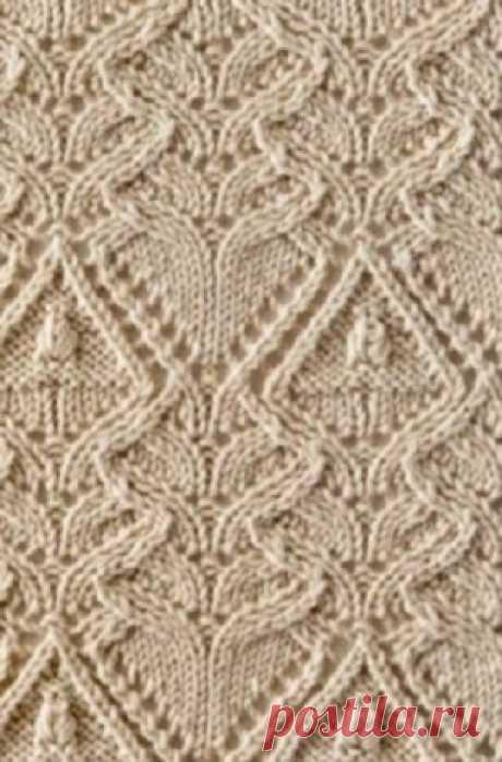 Большая подборка узоров для вязания спицами
