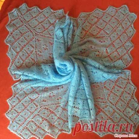 .. Оренбургский платок из мохера - Вязание спицами - Страна Мам