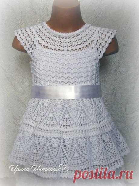 VYAZANIYE-KRYUCHOK-TUNIKI + JUMPERS DRESSES >Платье