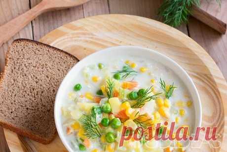 Овощной суп на молоке - рецепт приготовления с фото