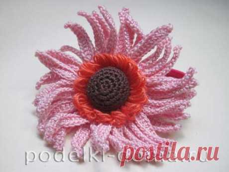 Мастер-класс по вязаной резинке в виде цветка герберы