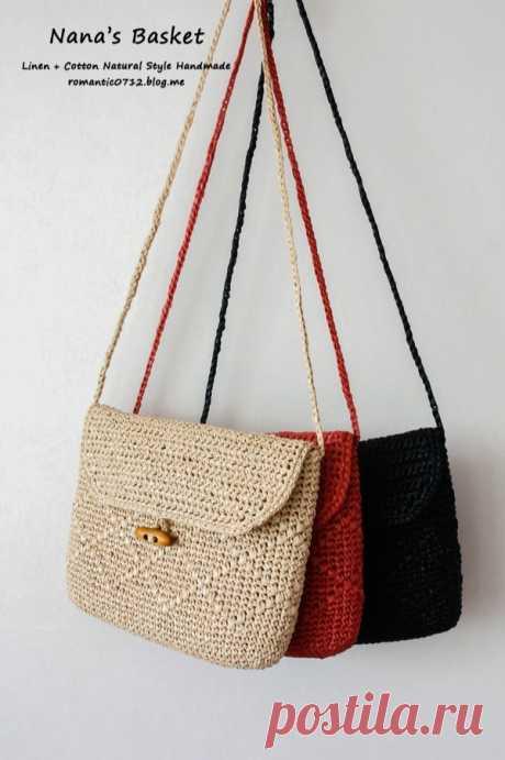 «Тебе ... кросс-бэг»: сумка ручной вязки.