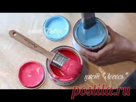 """Мастер-класс Дарьи Гейлер """"Как перекрасить старую икеевскую тумбочку в яркий цвет """"Лосось"""""""