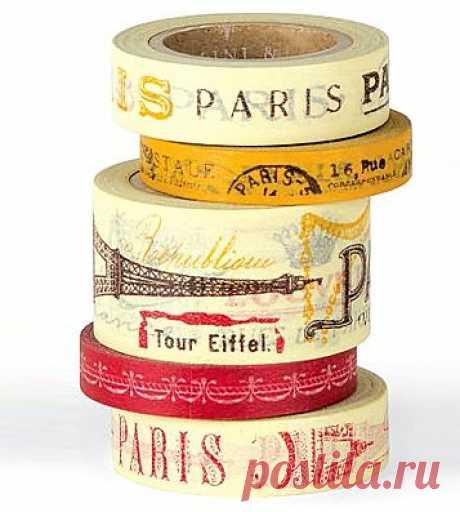 Набор декоративных скотчей 'Paris'. 920 P