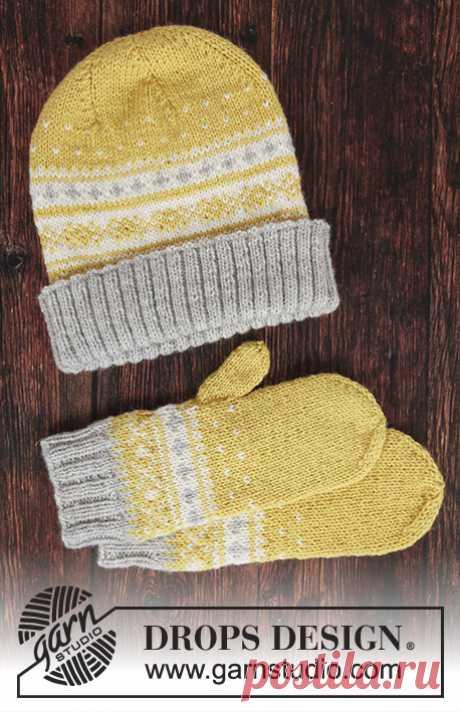 Шапка и рукавицы Lemon Pie - блог экспертов интернет-магазина пряжи 5motkov.ru