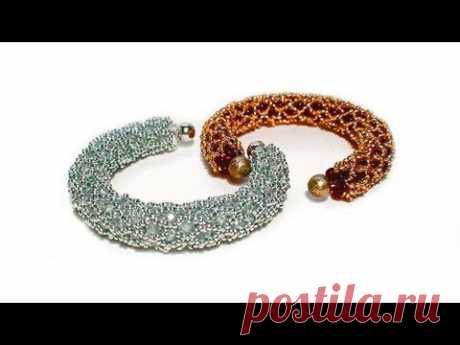 Tutorial: beads style №2 for pandora bracelet / Жгут из бисера для пандоры - YouTube