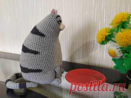 Кошка Хлоя, ч.4. Chloe's cat, р.4. Amigurumi. Crochet. Вязать игрушки, амигуруми.