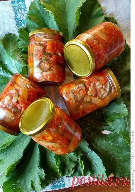 Закуска из кабачков в томатной заливке на зиму. Пошаговый рецепт с фото