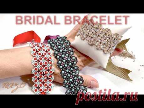 Türk işi dantel gelin takısı bileklik nasıl yapılır (Turkish lace bridal jewelry bracelet)