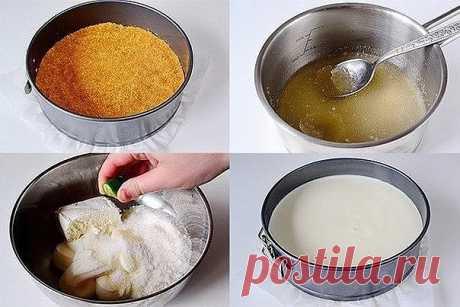 Желейный торт без выпечки с лаймовым вкусом  Ингредиенты: печенье (подобное «Юбилейному») — 200 гр.; сметана — 500 г; масло сливочное — 100 г; творог (или сливочный сыр) — 150 г; сахар — 120 г; желатин — 1 пакетик (10 г); ванильный сахар — 1 пакетик (10 г); лайм (или лимон) — 1 шт.; желе «Киви» зеленого цвета — 1 пакет; мята — 1 веточка (можно не добавлять).  Начните готовить торт с основы. Для этого в комбайне или блендере в крошку измельчите печенье. Если бытовой техники...