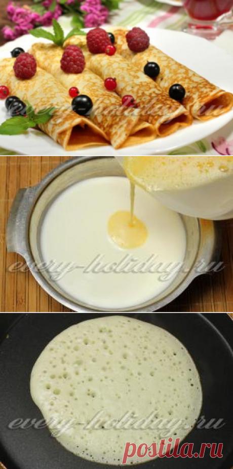 Los crepes sobre la leche agria: la receta delgado con dyrochkami