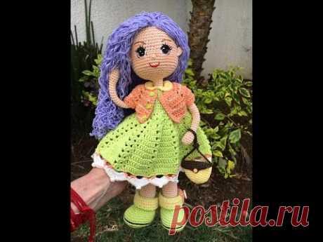 Como bordar ojos amigurumi muñeca Carolina By Petus (8/8)