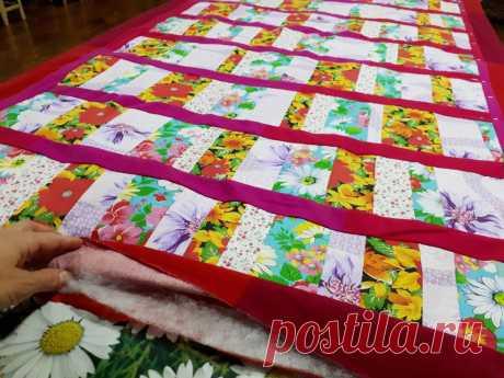 Самый простой и быстрый способ сшить лоскутный коврик или одеяло (помогал кот Виталий🙂) | Ёлки зелёные! | Яндекс Дзен