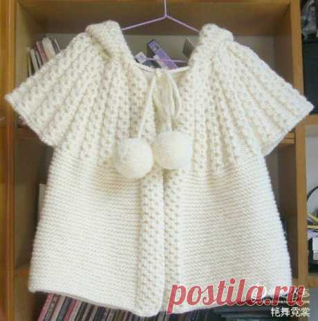 Children's vest with a hood spokes (the coquette circular)