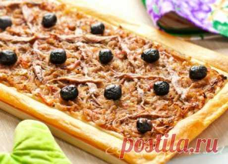 Луковый пирог Писсаладьер - Кухня Прованса