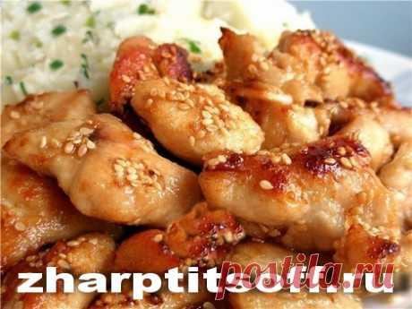 Курица восточное исполнение, кунжут, специи