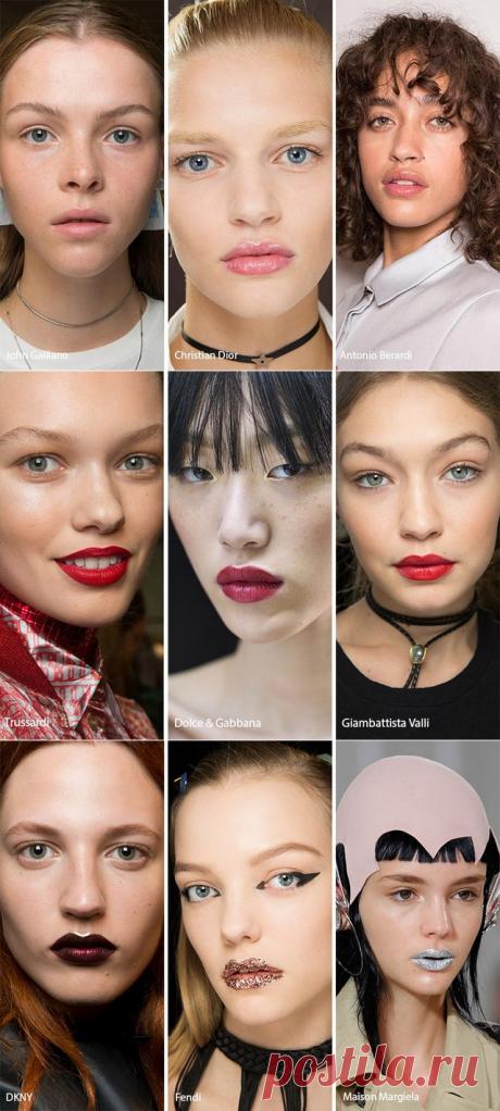 Модный макияж губ  2017-2018 фото