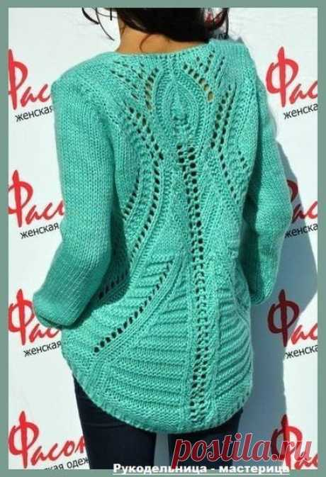Пуловер от Zara с ажурной спинкой вяжем сами | oblacco