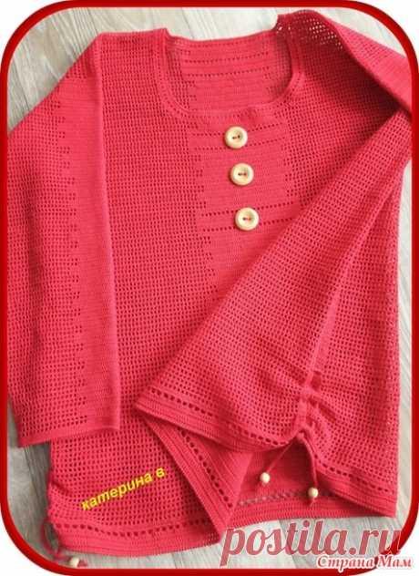 Филейная рубашка - Вязание - Страна Мам