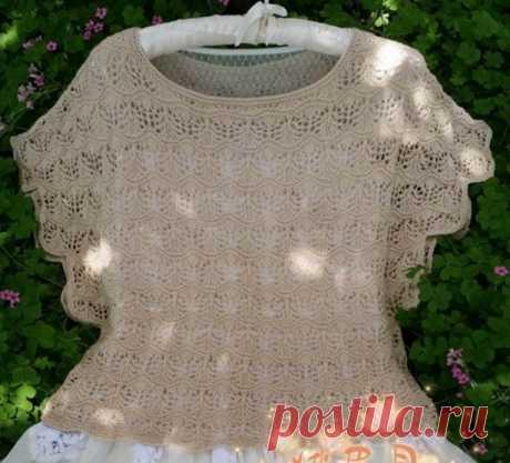 Летняя блуза спицами красивым узором. Как связать блузку спицами  