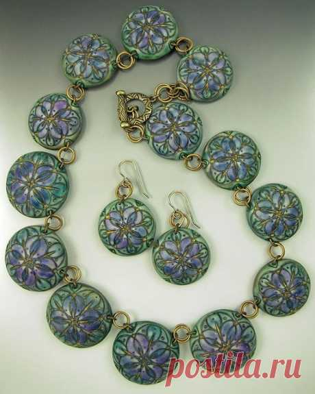 (11) amazing texture to polymer clay beads by Barb Fajardo (rubarb04 on Flickr) | Polymer Clay